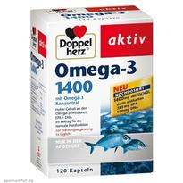 Doppelherz 双心 深海鱼油 Omega-3 1400mg胶囊 120粒
