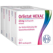 ORLISTAT HEXAL 奧利司他 60 mg 纖體膠囊 3x 84粒/盒