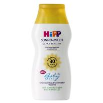 HIPP喜宝 天然杏仁油儿童抗敏防水防晒霜婴儿宝宝物理防晒乳 LSF30 200ml