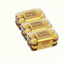 【3盒装】Ferrero 费列罗金莎榛果巧克力 16粒 200gx3