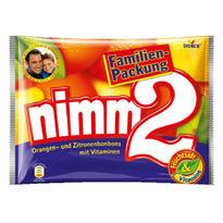 Nimm 2 二宝 维生素夹心水果糖 香橙柠檬味 429g