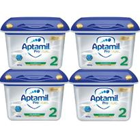 【限量补货】Milupa Aptamil 爱他美白金版婴儿配方奶粉 2段 6月+ 800g 4盒装