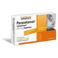 Paracetamol-ratiopharm 儿童退烧栓 250mg对乙酰氨基酚 2-8岁(13-25kg)