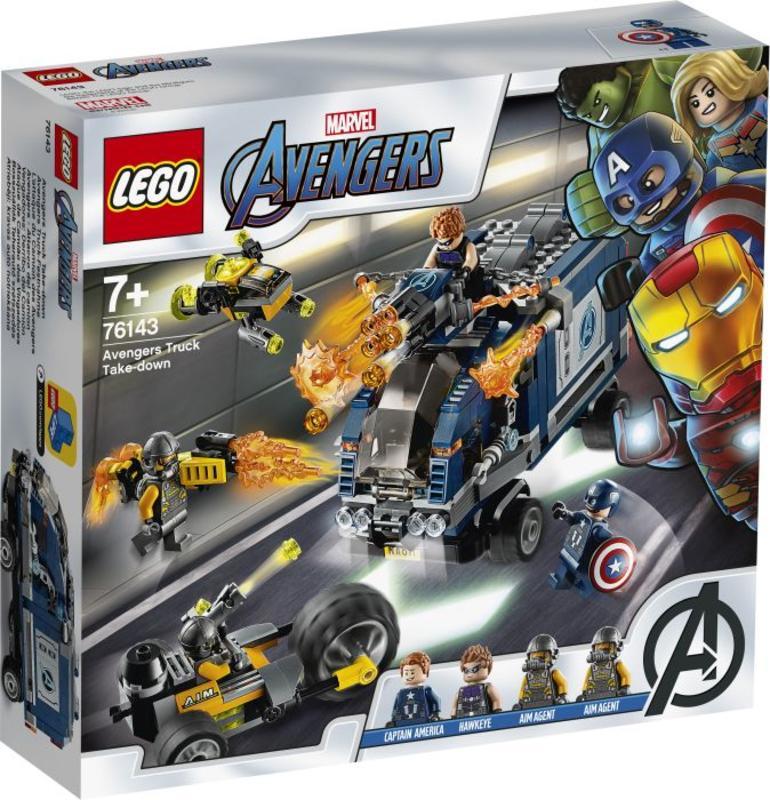 LEGO 乐高 漫威超级英雄系列 复仇者联盟大战武装卡车 477粒